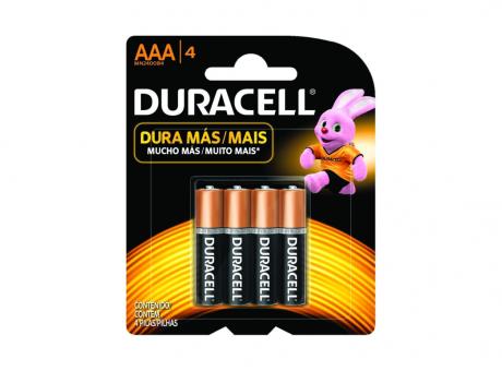 PILA DURACELL AAA PACK DE 4