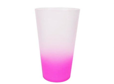 VASO MEGA DRINK 550ML FANTASY ROSADO NEON
