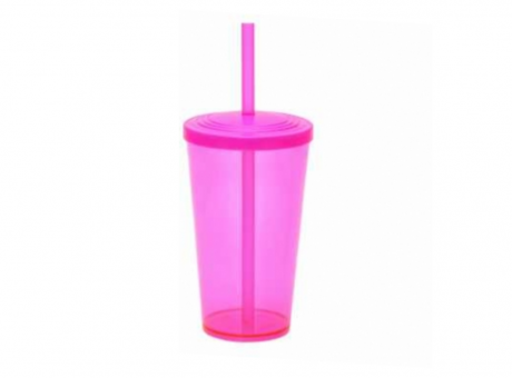 VASO WEEKEND CUP 550ML LISO ROSA