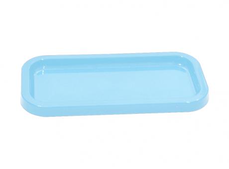 BANDEJA PLASTICA RECTANGULAR (30X5X2) CELESTE CLARO