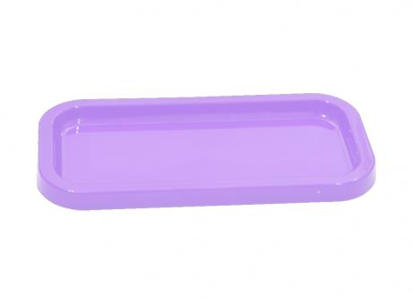 BANDEJA PLASTICA RECTANGULAR (30X5X2) PURPURA CLARO
