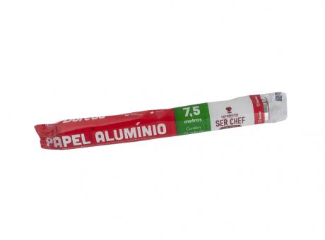 PAPEL ALUMINIO 30CMX7.5M BOREDA