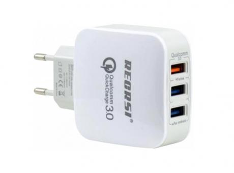 CARGADOR RAPIDO 3 USB QUALCOMM 3.0 RECRSI CH-23