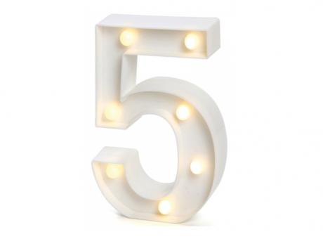"""Imagen de NUMERO LED """"5"""""""