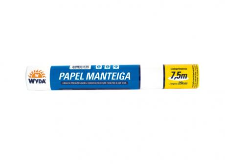 PAPEL MANTECA 30CMX7,5MTS 25 UNIDS