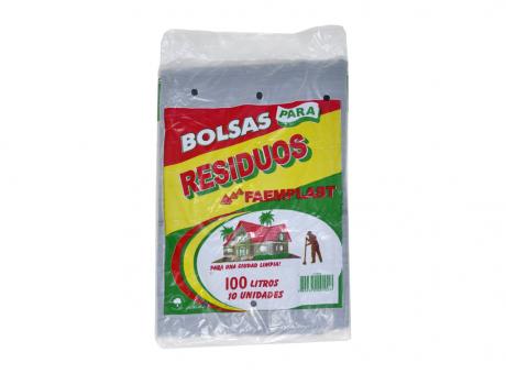 FP BOLSA BASURA 100 LTS NEGRO 10 HJS 55X85X15