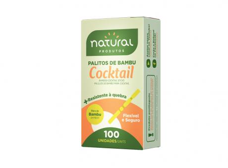 PALITO BAMBU COCKTAIL NATURAL C100