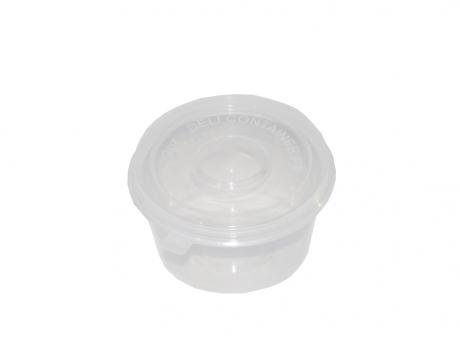 POTE PLASTICO CIRCULAR 50P (59ML) TAPA TRANSP.