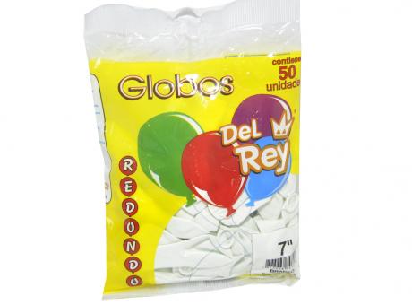 GLOBO DEL REY REDONDO BLANCO NRO 7X50