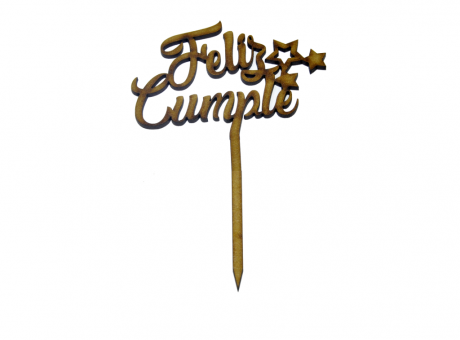TOPPER LARGO FELIZ CUMPLE FIBROFACIL