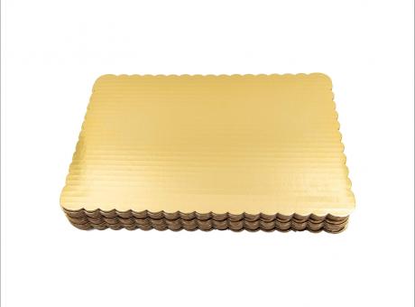 BASE TORTA RECTANGULAR ORO 20X33