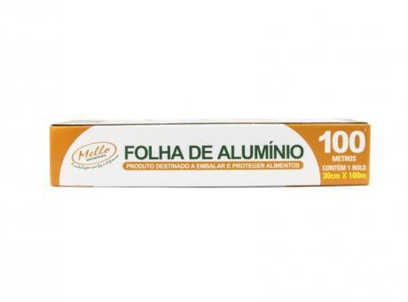 PAPEL DE ALUMINIO 30CM X 100M CAJA 6 UNIDADES MELLO